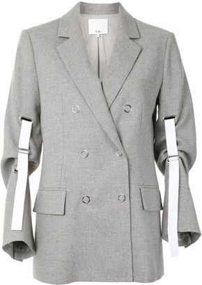 Tibi Double-Breasted Knitted Blazer