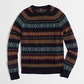 J.Crew Factory Tall Fair Isle crewneck sweater