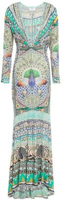 Camilla The King And I Crystal-embellished Printed Stretch-jersey Maxi Dress