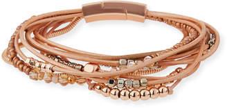 Panacea Faux Leather Bead Bracelet
