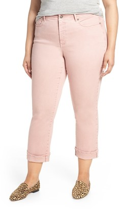 NYDJ Marilyn Cuff Straight Leg Jeans (Plus Size)