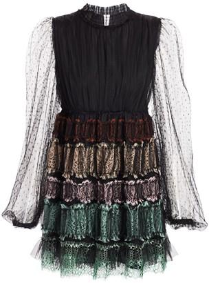 Wandering Layered Lace Mini Dress
