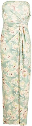 Mes Demoiselles Long Strapless Floral Dress