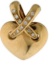 Chaumet 18K Liens Diamond Heart Pendant