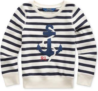 Polo Ralph Lauren Toddler Girls Anchor Terry Sweatshirt