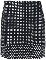 David Koma studded mini skirt - women - Spandex/Elastane/Acetate/Viscose - 8