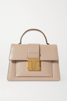 Tom Ford 001 Medium Leather Tote - Taupe