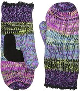 Isotoner Women's Chunky Cable Knit SherpaSoft Mittens