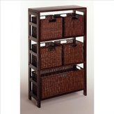 Winsome Wood Winsome Leo 6Pc Shelf And Baskets; Shelf, 4 Small And 1 Large Baskets; 3 Cartons