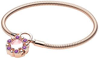 Pandora Charm Carrier Rose Padlock Heraldic Radiance Bracelet