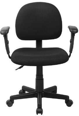 Dobbins Task Chair Symple Stuff Upholstery Color: Black, Arms: Yes