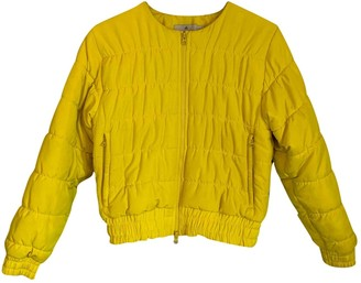 adidas Stella Mc Cartney Pour Yellow Coat for Women
