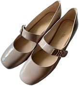 Christian Dior Baby-D Beige Patent leather Ballet flats