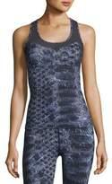 Varley Vidora Vest Sleeveless Printed Top, Blue