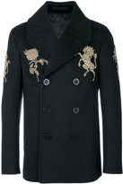 Alexander McQueen embroidered peacoat