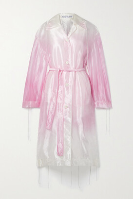 Acne Studios - Belted Ombre Organza Trench Coat - Pink