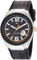 Tommy Hilfiger Men's 1790724 Logo Embossed Stainless Steel Silicon Watch
