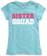 Urban Smalls Light Heather Aqua 'Sister Squad' Fitted Tee - Toddler & Girls