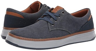 Skechers Moreno (Navy) Men's Lace up casual Shoes
