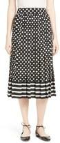 Kate Spade Women's Dot & Stripe Pleated Skirt