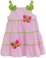 Rare Editions Embroidered Butterflies Striped Dress, Toddler & Little Girls (2T-6X)