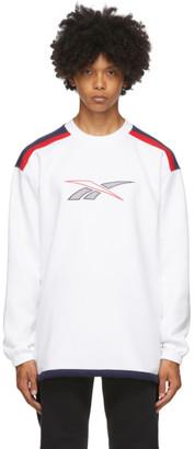 Reebok Classics White Classic Team Sports Crew Sweatshirt