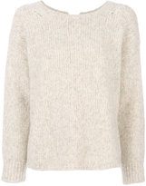 Humanoid ribbed round sweater