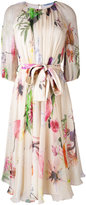 Blumarine floral print flared dress - women - Silk - 40