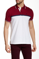 Micros Regular Fit Short Sleeve Colorblock Polo