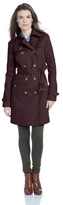 London Fog Women's Quilted-Shoulder Trench Coat