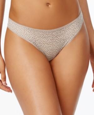DKNY Modern Lace Satin-Trim Thong Underwear DK5013