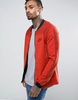 Nike Advance Knit Bomber Jacket In Orange 837008-852