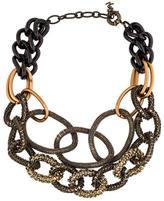 Saint Laurent Crystal Embellished Link Necklace