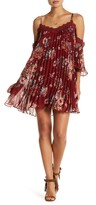 Flying Tomato Floral Chiffon Pleated Dress