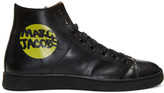 Marc Jacobs Black Logo High-Top Sneakers