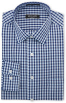 Pierre Cardin Blue & Navy Check Slim Fit Dress Shirt