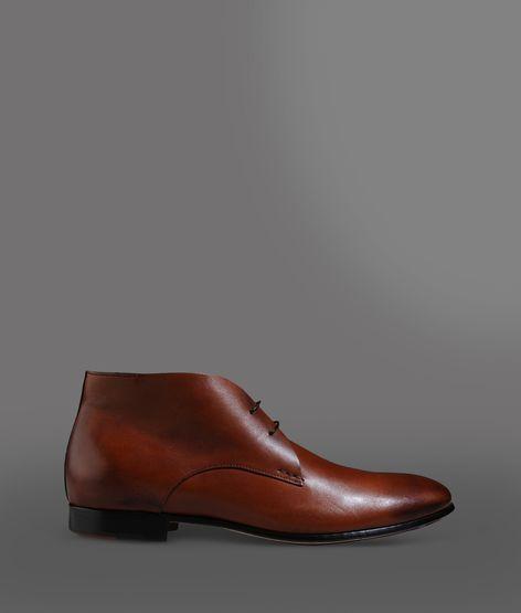 Giorgio Armani Ankle Boot In Prestige Calfskin With Leather Sole