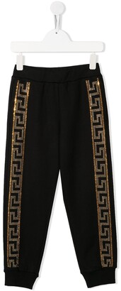Versace Meander embellished track pants