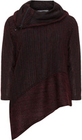 Inca Plus Size Asymmetric zip detail jumper