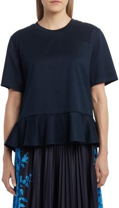 Valentino Short Sleeve Peplum T-Shirt