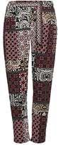 Wallis Petite Coral Paisley Print Trouser