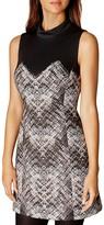 Karen Millen Abstract Plaid Dress