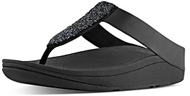 FitFlop Women's Sparklie Crystal Strappy Wedge Sandals