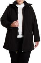 Ellen Tracy Soft Shell Hooded Jacket (Plus Size)