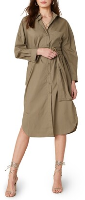 BB Dakota Boyfriend's Back Belted Shirtdress