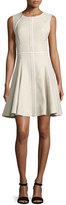 J. Mendel Sleeveless Godet-Pleated Dress, Cargo/Multi