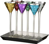 Artland Stars Cone Shape Cordial Glass Set With Tray