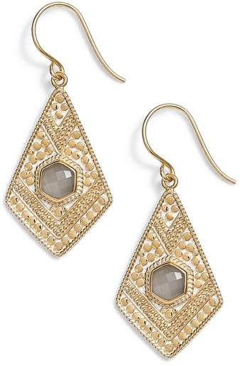 Anna Beck Grey Moonstone Kite Drop Earrings