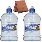 Arrow Plastic 00750 2.2 Liter H2O On The Go Water Bottle, 2-Pack with Cleaning Cloth
