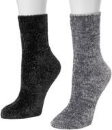 Muk Luks Women's 2-Pack Chenille Boot Socks